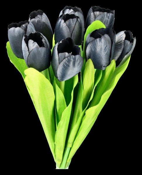 Artificial Flower - Black Bouquet of Tulips