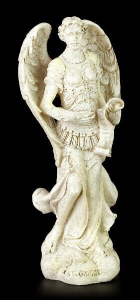 Small Archangel Figurine - Gabriel - White