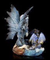 Wasser Elfen Figur - Idrica mit kleinem Drachen