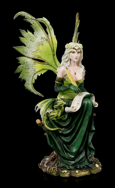 Fairy Figurine - Princess Gaia with Dragon