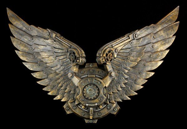 Large Wall Plaque - Steampunk Wings