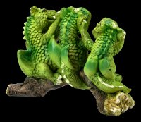 Cute Dragon Figurines on Branch - No Evil...