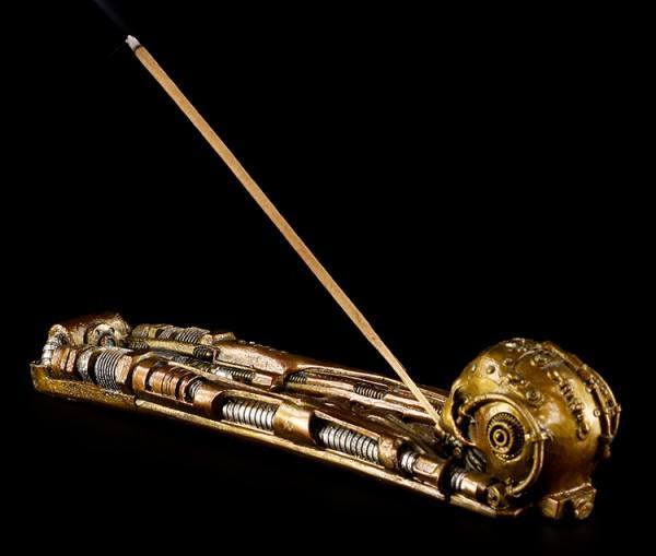 Incense Stick Holder - Steampunk Skull