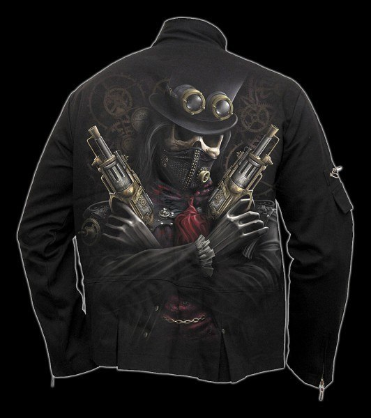 Jacke Gothic mit Skelett - Steam Punk Bandit