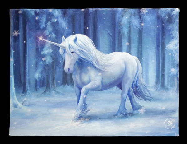 Small Canvas with Unicorn - Winter Wonderland