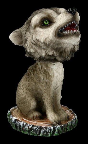 Wackelkopf Figur - Heulender Wolf