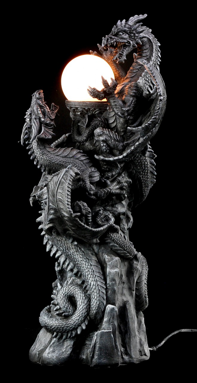 Dragon Lamp - Fighting Dragons