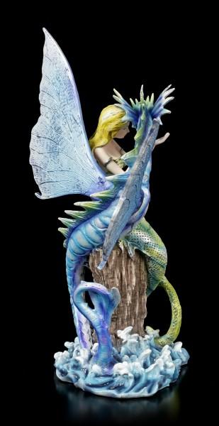 Mermaid Figurine with Sea Dragon