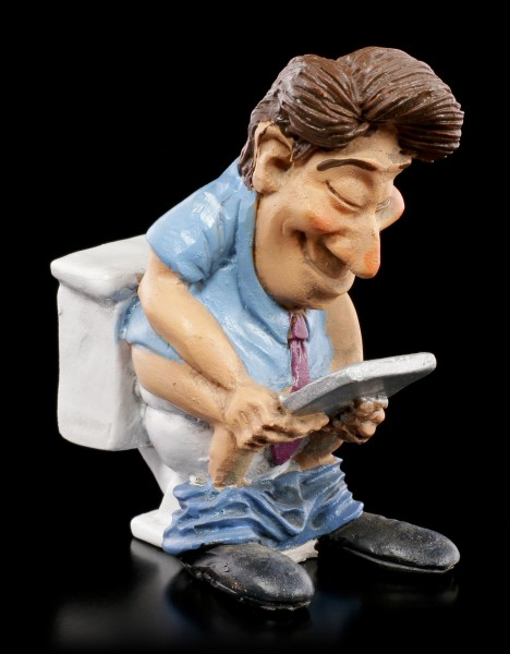 Funny Jobs Figurine - Office Clerk on Toilet