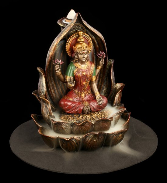 Backflow Incence Cone Holder - Lakshmi