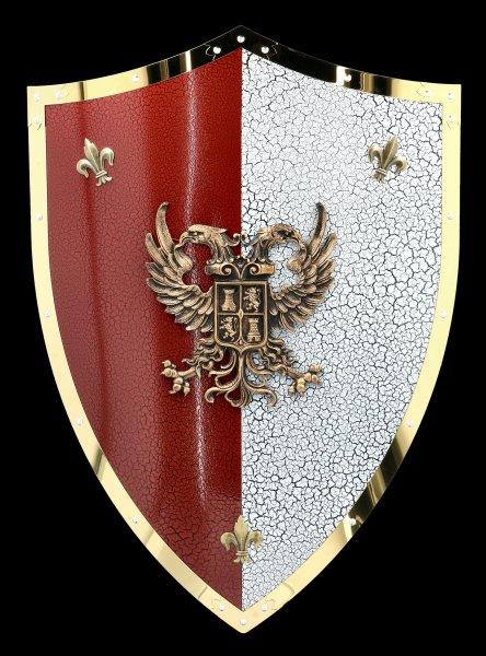 Ritter Schild mit doppelköpfigem Adler