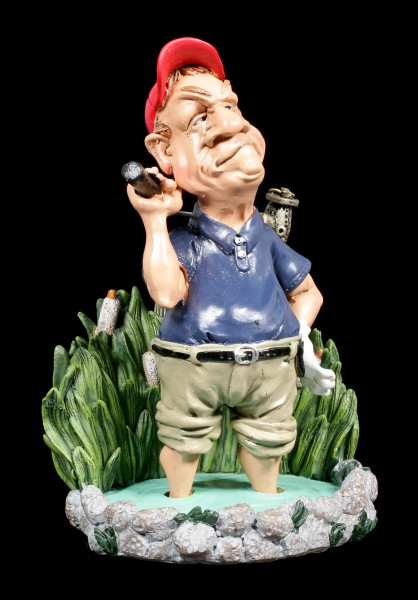 Golfer Figurine in Water - Funny Sports