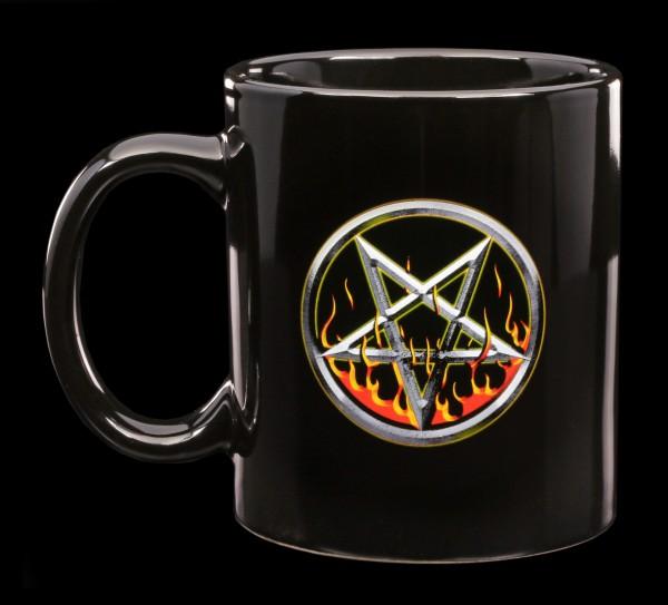 Pentagramm Tasse - Drudenfuß
