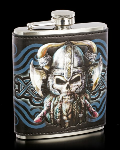 Hip Flask with Viking Skull - Danegeld