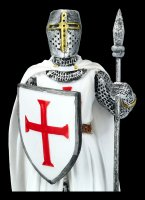 Knights Figurine - Templar with Spear and Shield