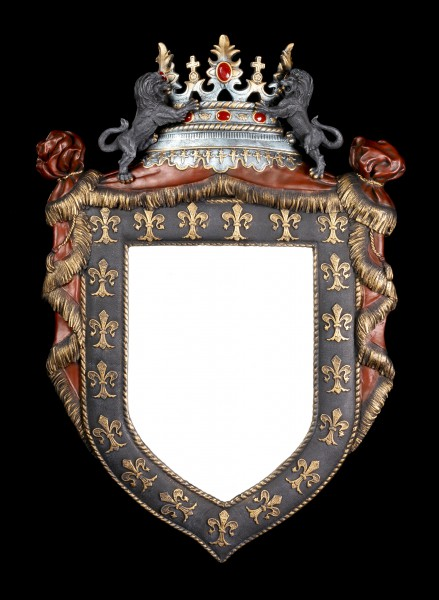 Preview: Medieval Wall Mirror - French Royal Crest