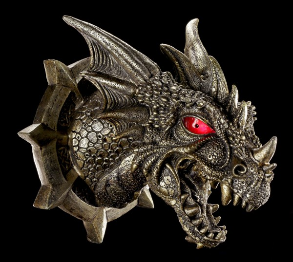 Drachen Schädel - Raiden's Kopf mit LED Augen