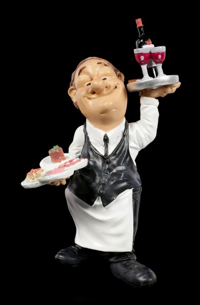 Funny Job Figurine - Waiter with Delicacies