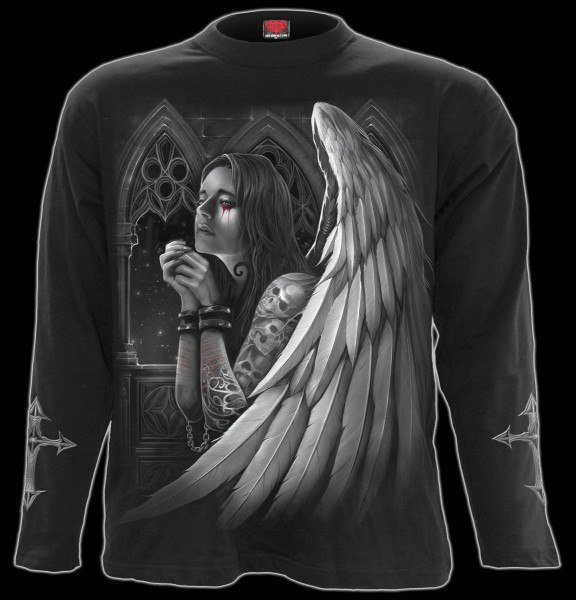 Langarmshirt Gothic Engel - Absolution