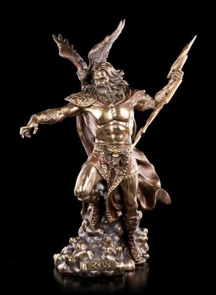 Große Zeus Figur - Griechischer Göttervater mit Adler