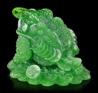 Feng Shui Figur - Geldfrosch jadefarben