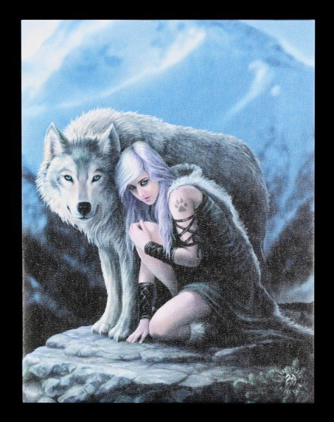 Kleine Leinwand - Protector by Anne Stokes