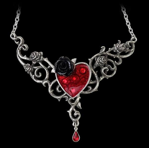 The Blood Rose Heart - Alchemy Gothic Necklace