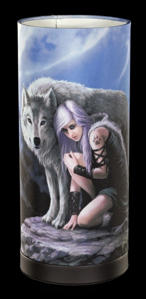 Tischlampe mit Wolf - Protector