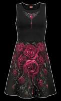 Skater Kleid Midi - Blood Rose