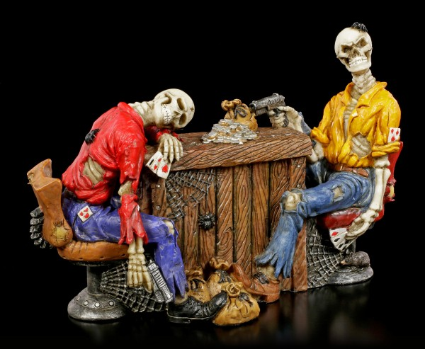 Skelett Figuren beim Pokern - Marked Cards