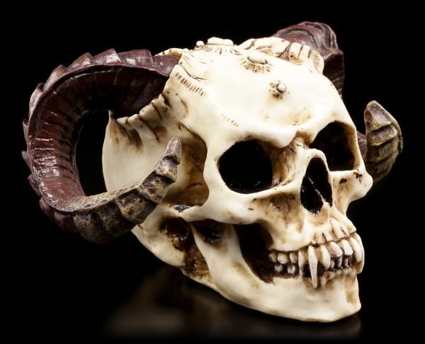 Devil-Skull with Ram-Horns