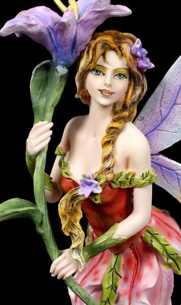 Fairy Figurine - Vivian with purple Flower
