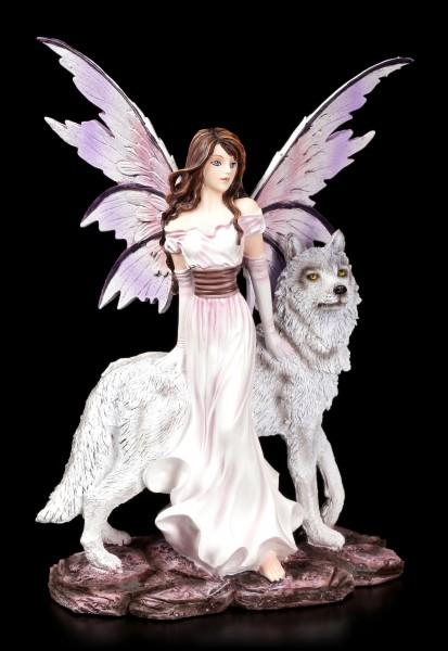 Elfen Figur - Alari mit ihrem Wolf