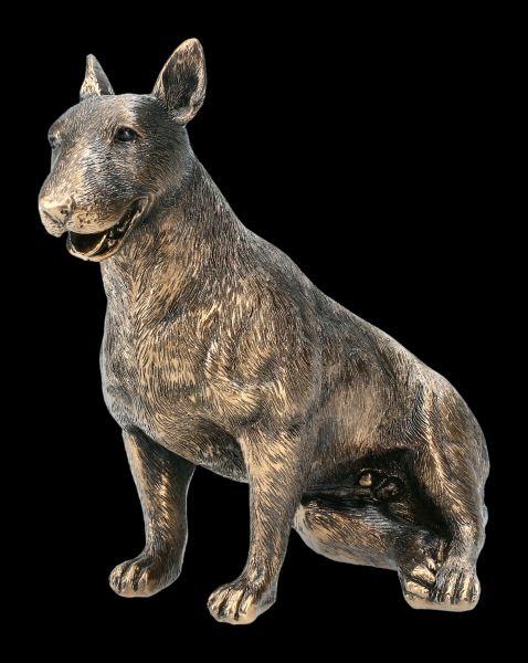 Hunde Figur - Bullterrier bronzefarben