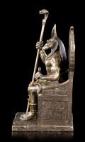 Anubis Figur sitzend auf Thron