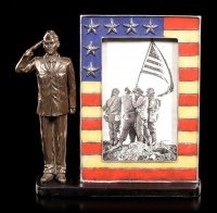 Picture Frame - Saluting US Air Force Soldier