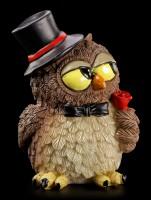 Funny Owl Figurine - Bridegroom