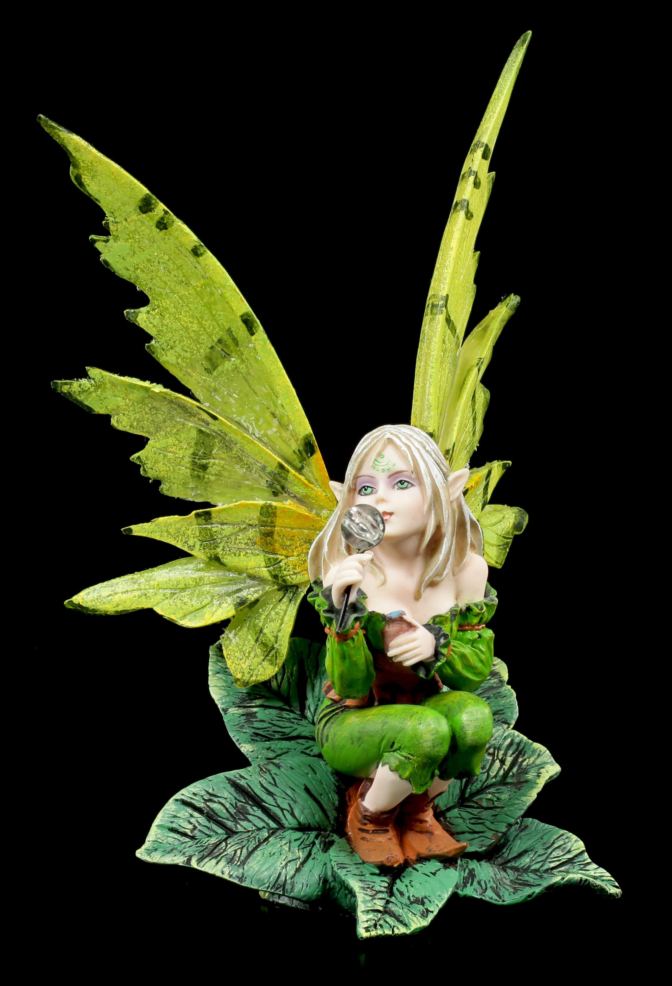 Fantasy Fee Statue Magie Elfen Figur mit Drache Bad Dragon by Amy Brown