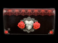 Purse with Gothic Angel - Only Love Remains - embossed