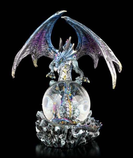 Dragon Figure with Snowglobe - Azul Oracle