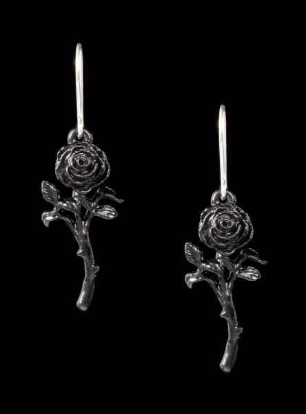 Alchemy Earrings - Romance Of The Black Rose