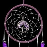 Traumfänger - Dream Tree - lila