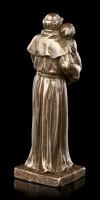 Kleine Antonius von Padua Figur - bronziert