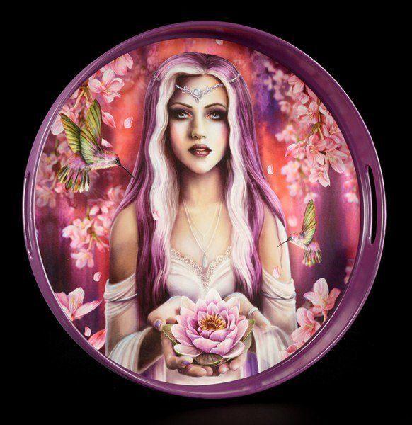 Rundes Tablett - Elora's Enchantment