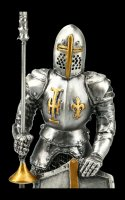 Pewter Knight Figurine - Templar with Jousting Lance