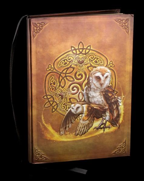 Notizbuch mit Eule - Celtic Owl