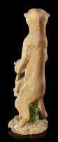 Garden Figurine - Female Meerkat with Child