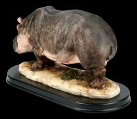 Hippo Figurine on Base