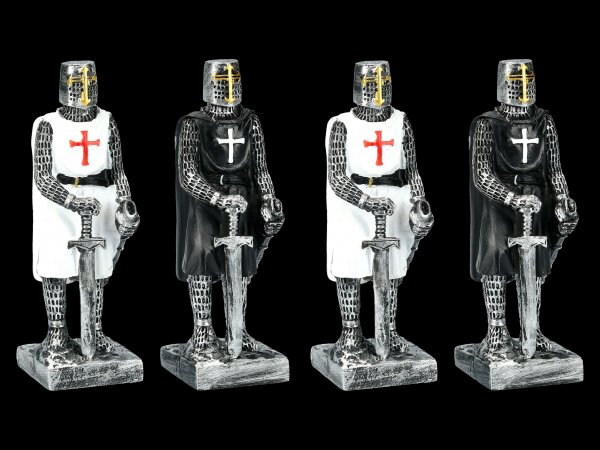 Knight Templar Figurines - Crusaders Set of 4