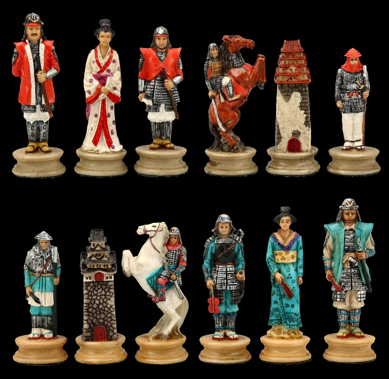 Chessmen Set - Samurai